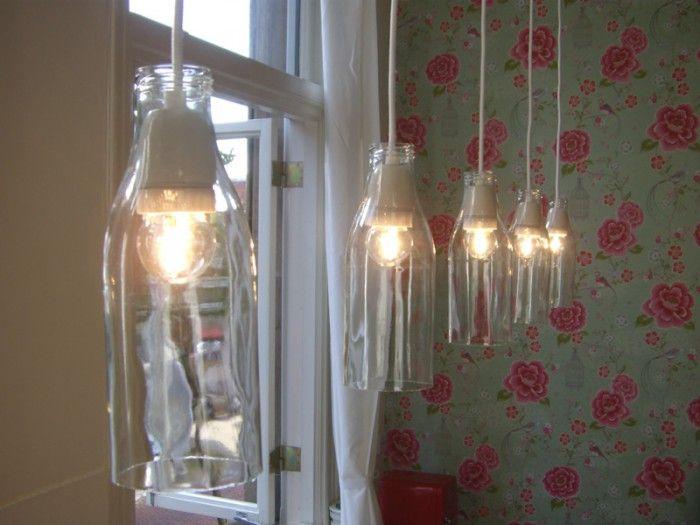 Maak van een lege fles een originele fleslamp