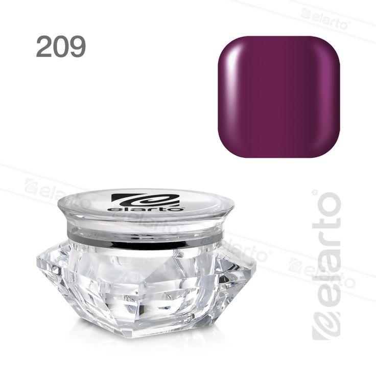 Żel kolorowy Extreme Color Gel nr 209 - purpurowy 5g #elarto #żel #kolorowy #purpurowy