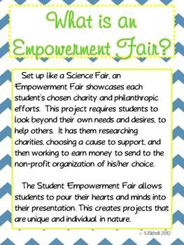 Student Empowerment Fair - Project Based Service Learning Unit