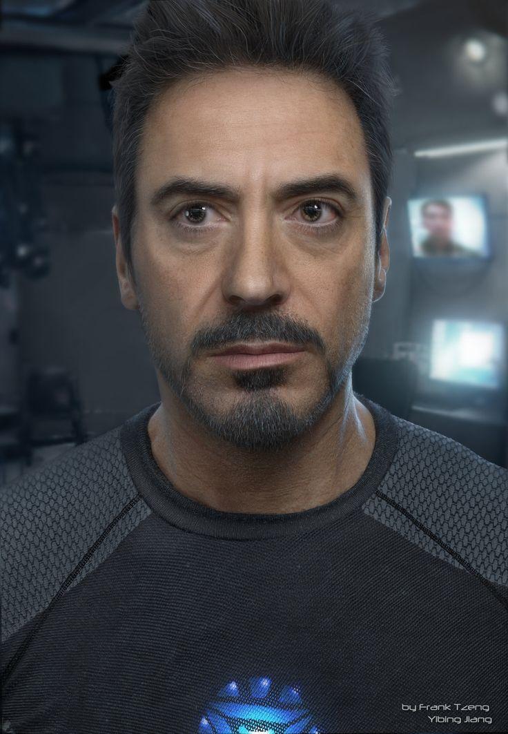ArtStation - Realistic CG portrait of Robert Downey Jr ( Ironman ), Frank Tzeng