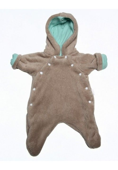 A fully lined furry one-piece to keep your baby warm in the winter months. Lined with aqua 100% cotton. #littlelumps #southafrica #baby