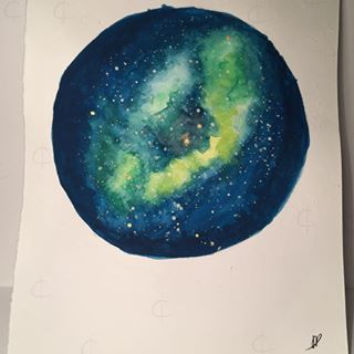 Space practice, which turned out very pretty actually? I'm very happy with the result! ✨    #space #nebula #practice #watercolor #waterpaint #waterpainting #watercoloring #paint #color #art