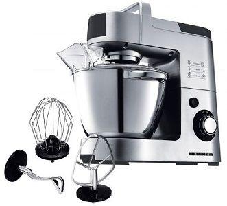 """Mixer cu bol Heinner Master Collection HPM-1500XMC, 1500 W, Bol 5.5 l , 6 Viteze, Argintiu/Negru. Afisajul mixerului Heinner Master Collection HPM-1500XMC este unul tip LED, observand mai usor astfel treapta de viteza selectata. In ajutor iti vine si sistemul antialunecare, nu se va misca sau vibra pe masa in timp ce il folosesti.  Atat pe noi cat si pe Chef """"Catalin Scarlatescu"""" acest produs ne-a convins ca este unul de top si ca isi merita banii."""