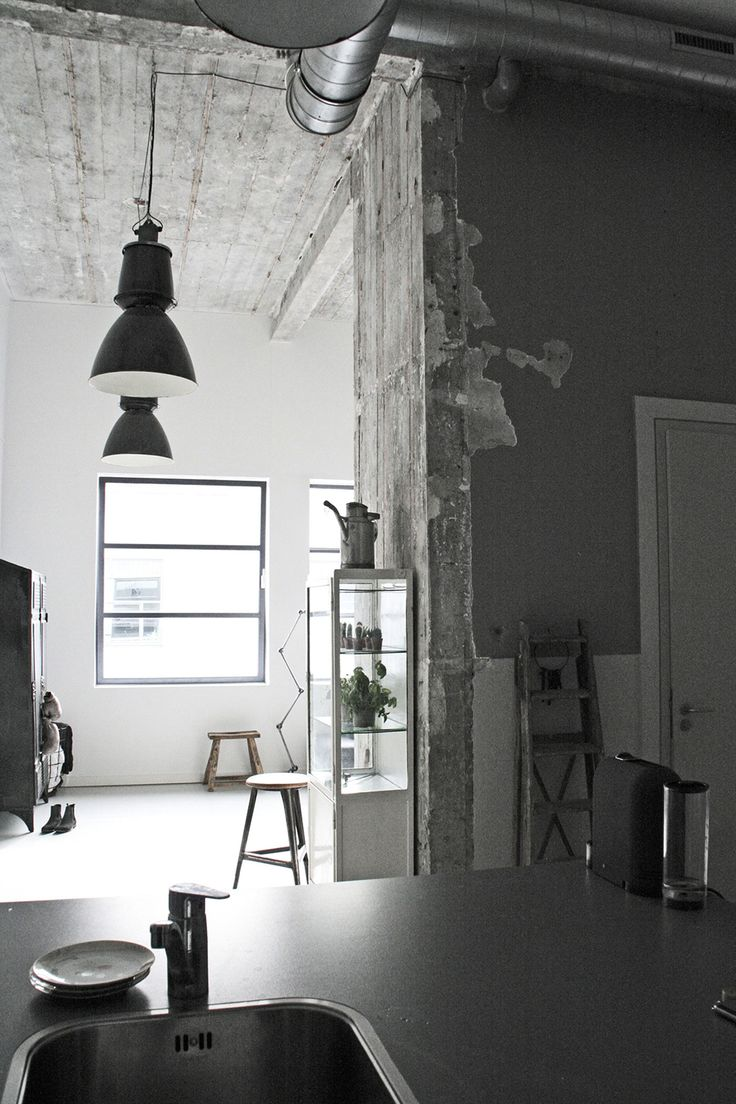 Jason Herings Loft Was Designed By Renee Arns Stylist Interior Designer In It Is Located Eindhoven The Netherlands And Has An Industrial Feel That
