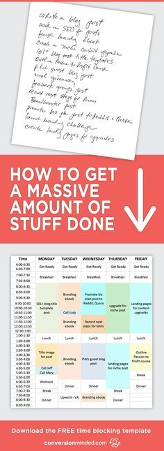 How to Stay Super Productive + Get a Massive Amount of Stuff Done   Ready to turn your to-do list into an Action Plan? This guide for entrepreneurs and bloggers will help you prioritize goals and tasks. It also includes my secret productivity weapon – the Time Block Template.