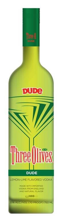Dude vodka by Three Olives.