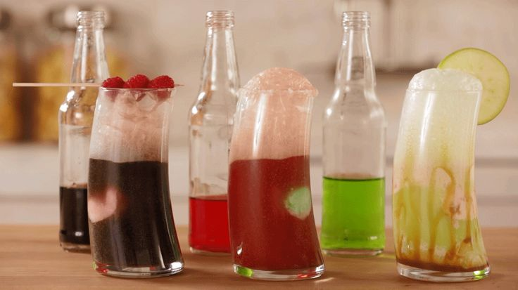 With different flavors of soda and ice cream, you can create any type of float you want! We show you a few options, including caramel apple, with rich dulce de leche ice cream and green apple soda./