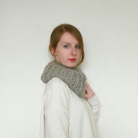 The Owen // Wool alpaca chunky ribbed knit by WhitebirchHandcraft