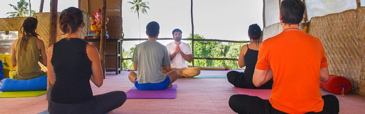 DR Gaurav Malik teaching in our Yoga Studio, Arambol Beach, Goa, India :)