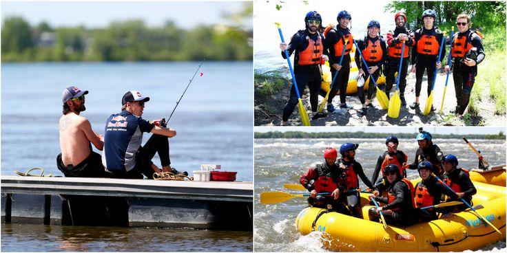 Had some great time rafting and fishing today  #kvyat #daniilkvyat #redbull /// Сегодня в развлекательной программе был рафтинг и немного рыбалки  #квят #даниилквят #формула1