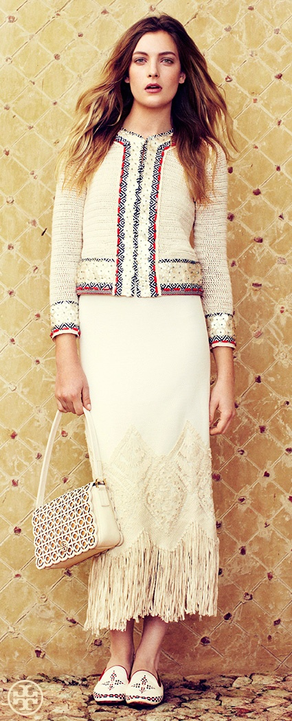 Eclectic Lady: Fringe | Tory Burch Spring 2013