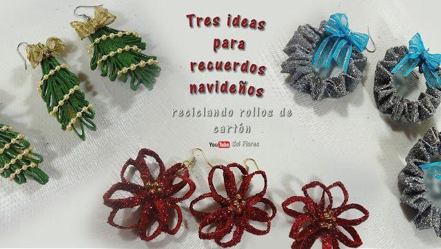 SOL EN SU MUNDO DE PAPEL: Tres ideas para recuerdos navideños reciclando rol...