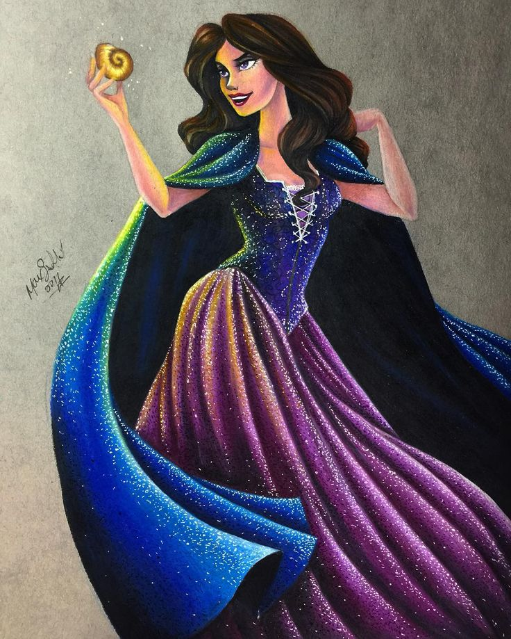 "Vanessa from ""The Little Mermaid"" - Art by Max Stephen (maxxstephen on…"