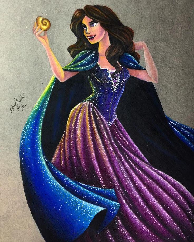 "Vanessa from ""The Little Mermaid"" - Art by Max Stephen (maxxstephen on…"