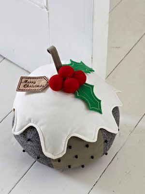 Christmas pudding door stop...!!! I have been searching for a stop for Christmas and this is perfect!!!