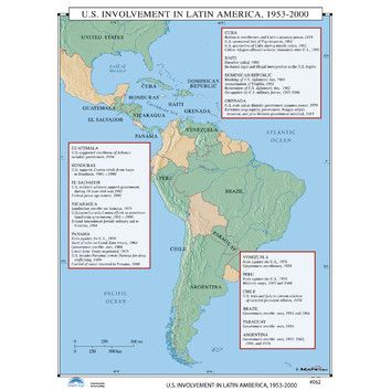 Universal Map U.S. History Wall Maps - U.S. Involvement in Latin America   Wayfair