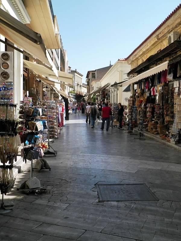 Plaka in Athens, Greece, fun shopping