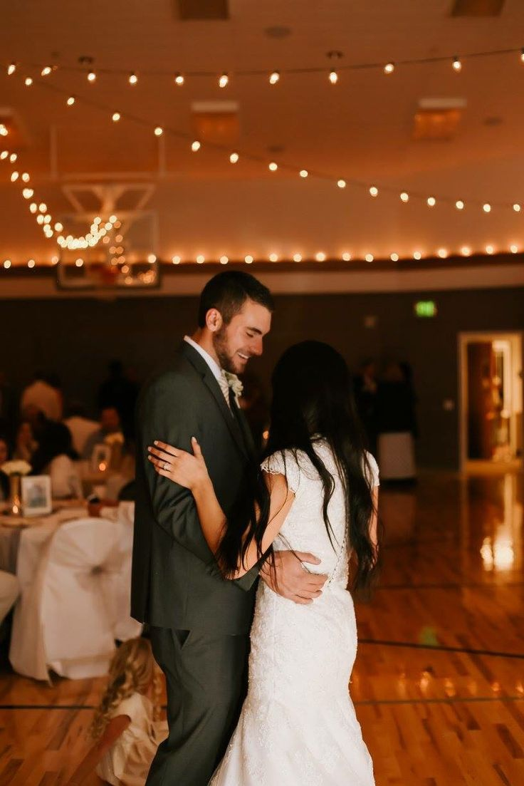LDS gymnasium wedding reception