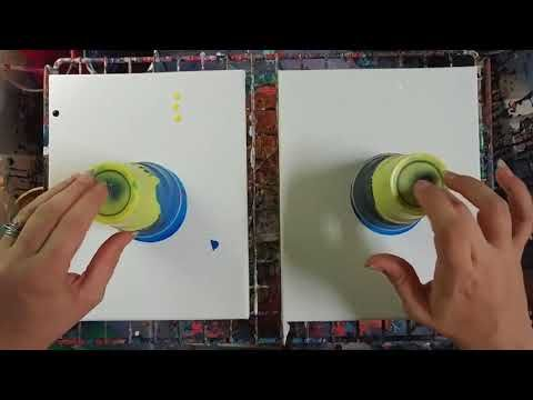 Dip In OverFlow Paint and Open Cylinder Paint Pour Using Elmer's Glue and Ap…