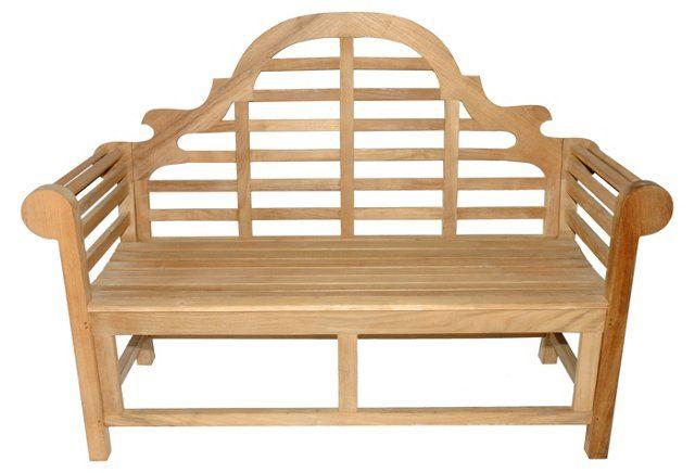 Teak Lutyens Bench, Honey Brown