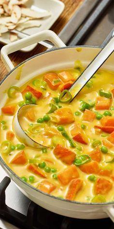 Veganes Kürbis-Kokos-Curry