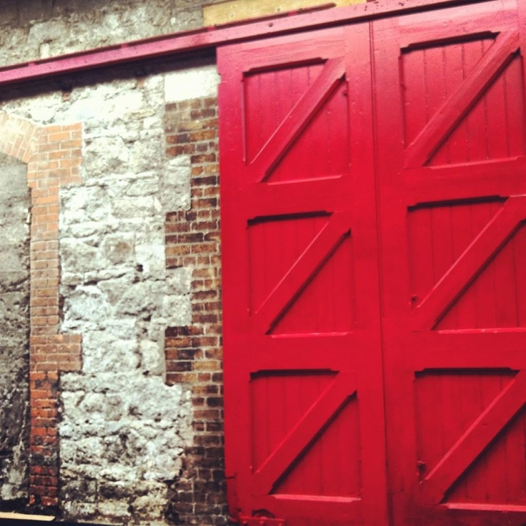 Exposed Brock and Victorian door at the RDS industries Hall  Twitter / Recent images by @SustainableShow