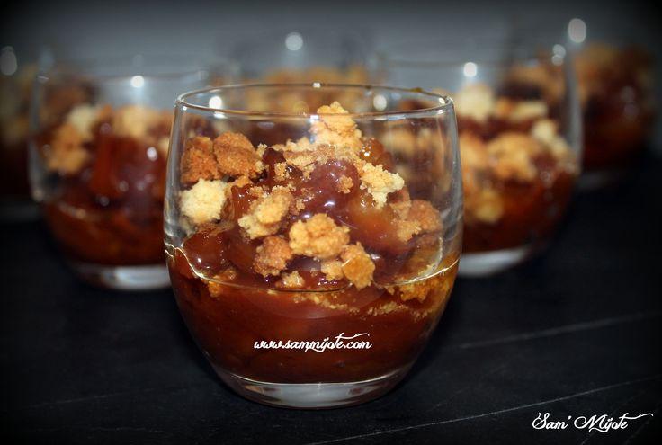 Pommes caramélisées façon tatin en verrine par Sam'mijote