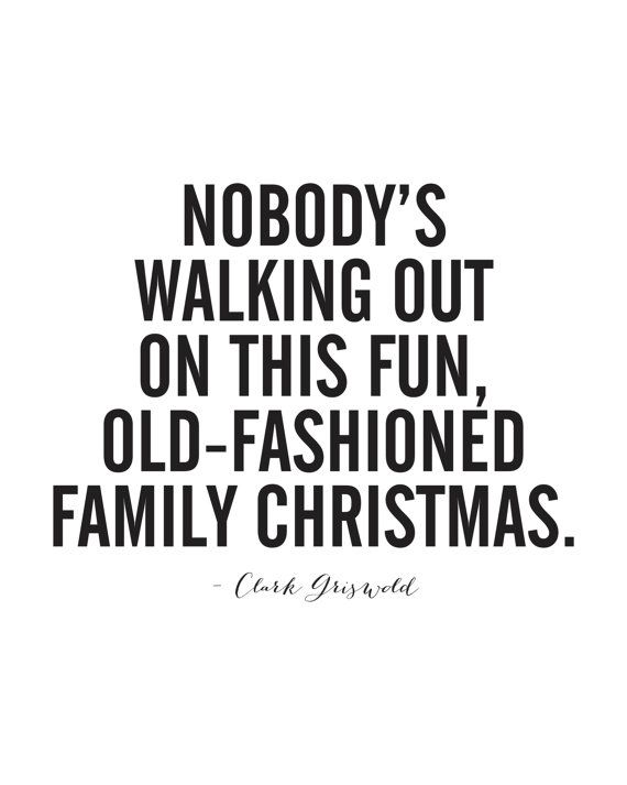 Clark Griswold Christmas Vacation Quote by 8thStreetPrints on Etsy