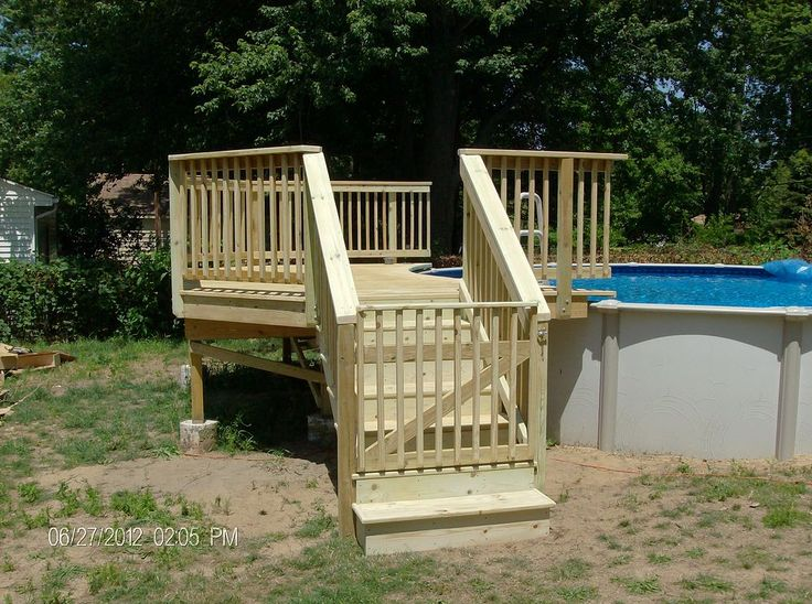 Pool Deck Gate Ideas find this pin and more on deck ideas above ground pool with gates Deck Completed And Safety Gate Installed