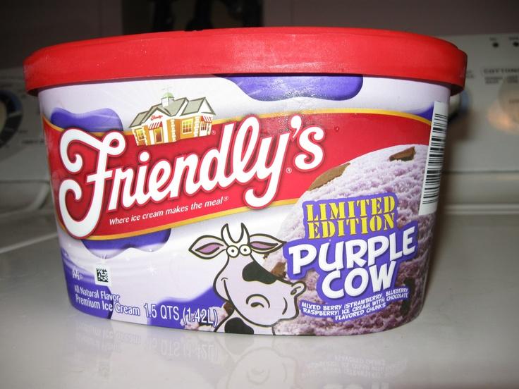 Purple Cow ice cream carton