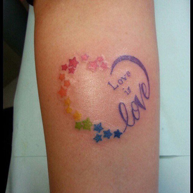 38 colorful and creative pride tattoos gay pride tattoos pride tattoo and tattoo. Black Bedroom Furniture Sets. Home Design Ideas