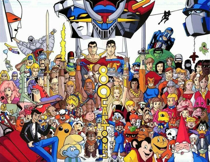 Cartoon Characters Of The 80s : S cartoons huge crossovers and awesome items