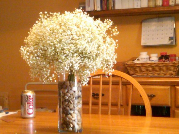 Cost Of Baby S Breath With Images Babys Breath Centerpiece Table Arrangements Wedding Babys Breath