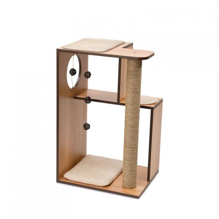 Mueble Rascador Grande Para Gatos Vesper V-Box Nuez