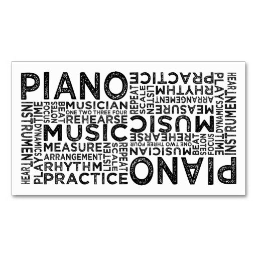 14 best pianist business cards images on pinterest piano lessons piano typography business card reheart Images