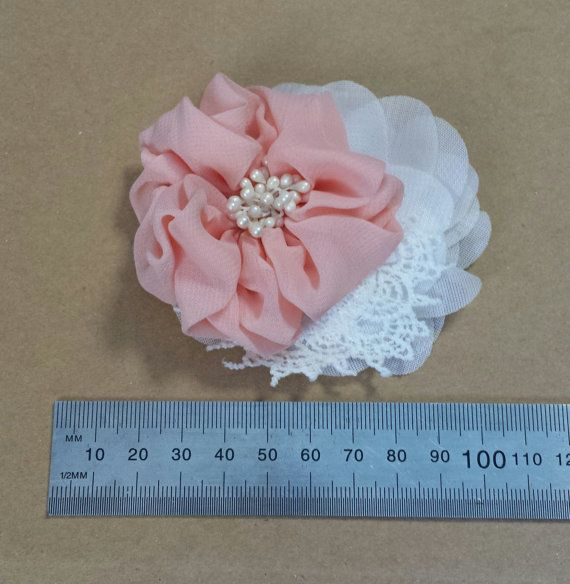 Hey, I found this really awesome Etsy listing at https://www.etsy.com/listing/221401443/hair-clip-apricot-lace-and-ruffle-flower