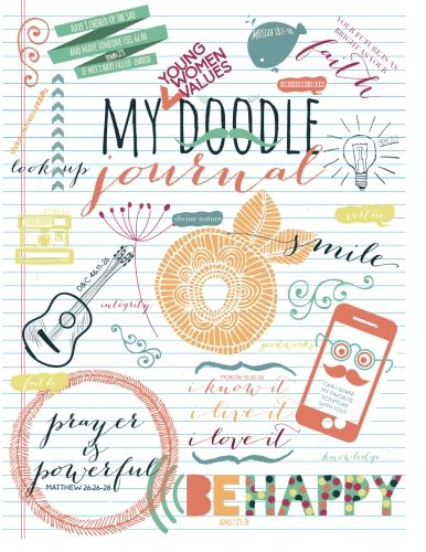 """This """"doodle"""" journal helps make Personal Progress fun and meaningful!  Girls would LOVE this."""