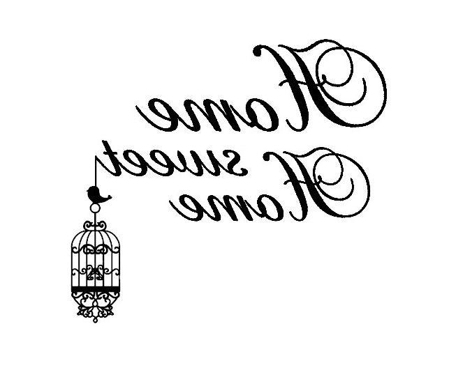 Scritta con gabbietta transfer pinterest sweet home - Stencil cucina da stampare ...