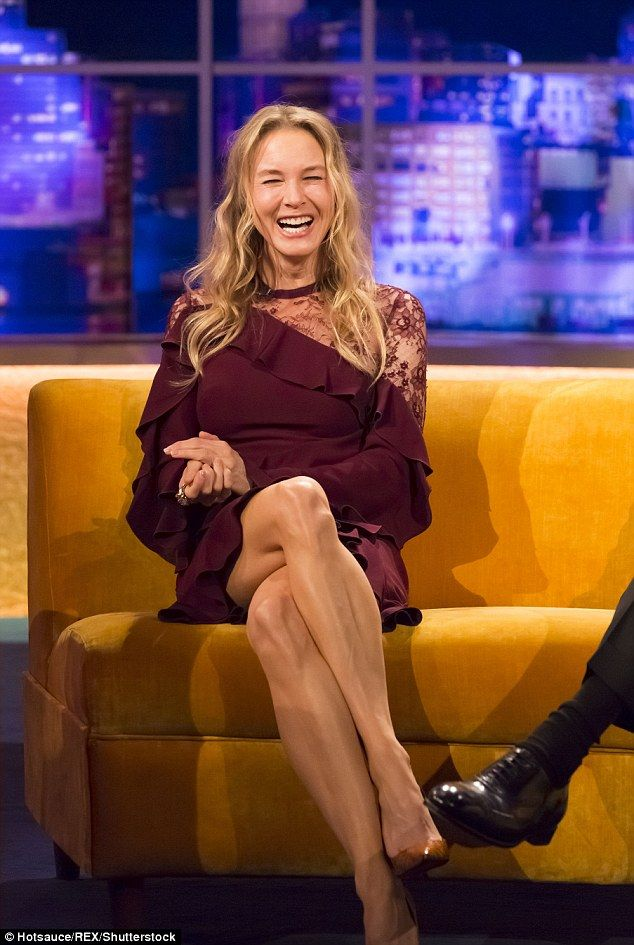 Talking the talk: Renee Zellweger told Jonathan Ross she enjoyed the anonymity that came with her six-year hiatus from acting, before returning to appear in Bridget Jones's Baby