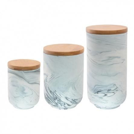 Marble Canister in Grey