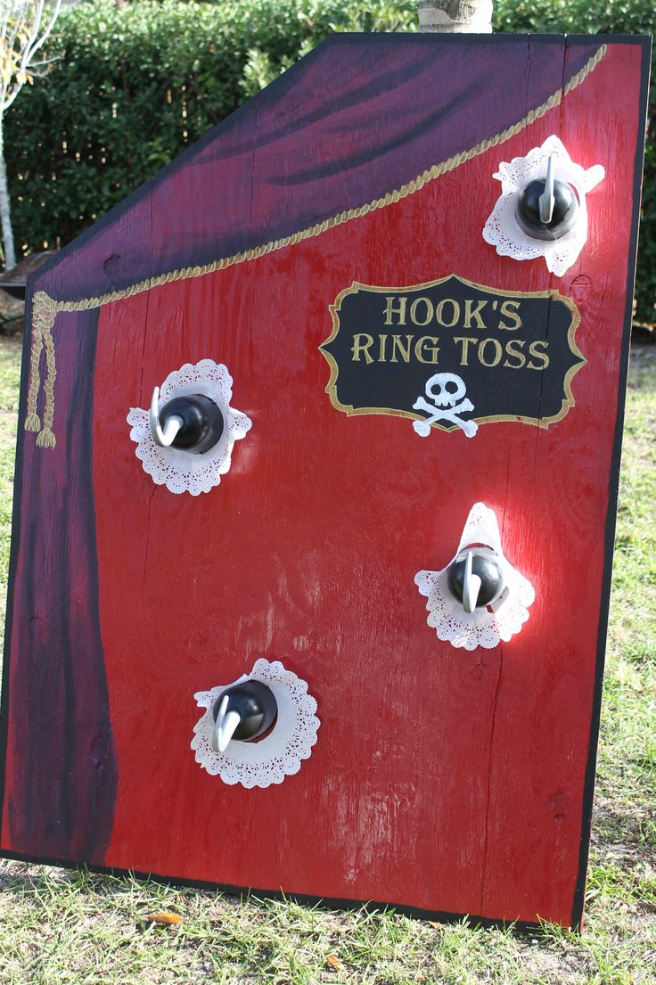 Captain Hook's Ring Toss Game - Pirate or Peter Pan Theme