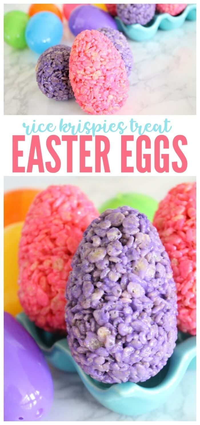 I am loving these AWESOME Rice Krispies Treat Easter Eggs, This Easy Easter Recipe is simple and adorable! This is the perfect Easter Recipe for Kids! They will love these Easter Eggs and I can't lie, my husband and I enjoyed them A LOT as well!