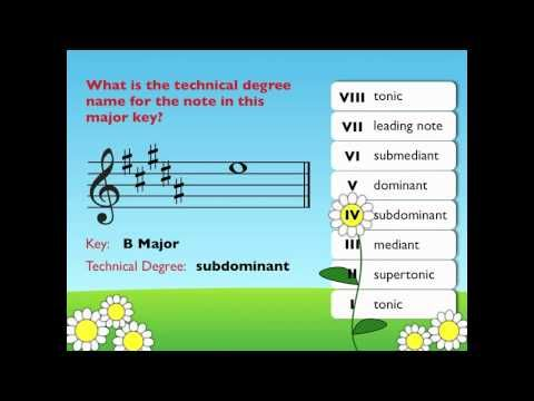 Technical Degree Names (Scale degrees and roman numerals)