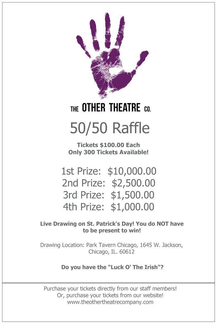 50  50 raffle poster