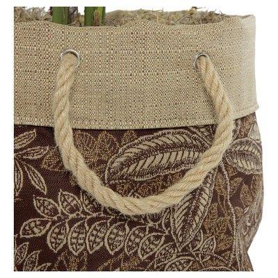 """10"""" Aviana Fabric Floor Planter In Palmetto Espresso ..."""