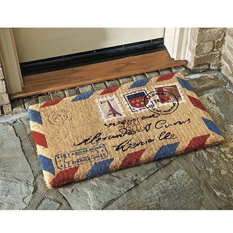 Postal Themed Welcome Mat From Ballard $25 Http://www.ballarddesigns.com