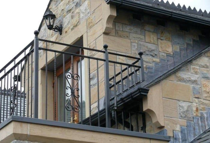 Wrought Iron Balcony Railing , House Balcony Railing In Landscaping And Outdoor Building Category