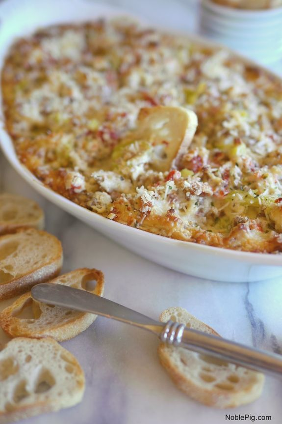 Hot Italian Dip, the perfect party appetizer from NoblePig.com
