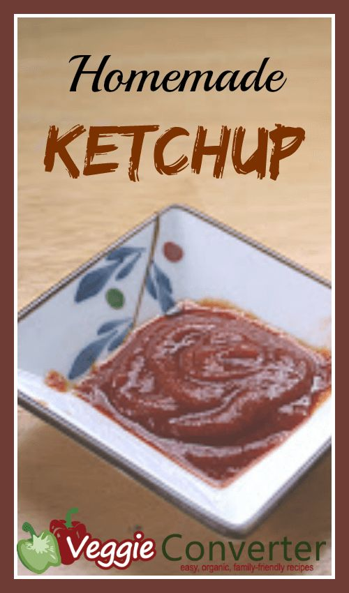 Homemade Ketchup Recipe 3 ounces tomato paste 1/2 tablespoon apple cider vinegar (like this) 1 tablespoon honey or agave nectar (like this) 1/2 teaspoon kosher salt 1/2 teaspoon garlic powder 1/8 teaspoon onion powder 1/4 cup water