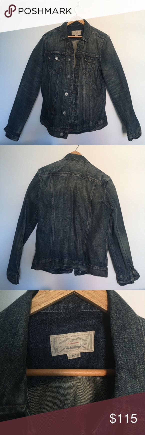 All Saints men's denim jacket Men's denim jacket from All Saints. Barely worn, in great shape. All Saints Jackets & Coats